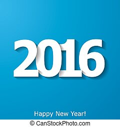 Creative New Year 2016 text design