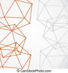 creative node background - network node connection...