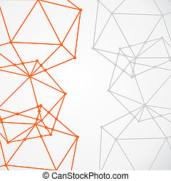 network node connection background vector
