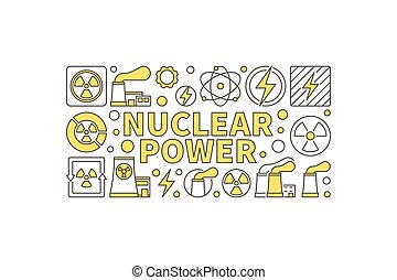 Creative nuclear power illustration