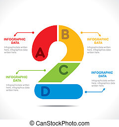 creative number '2' design
