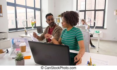 creative office workers discussing project - business,...