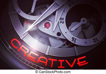 Creative on Automatic Wristwatch Mechanism. 3D.