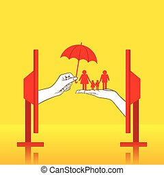 family insurance concept design