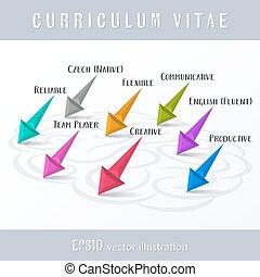Creative original cv template