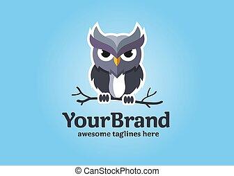 Owl logo vector in modern colorful logo