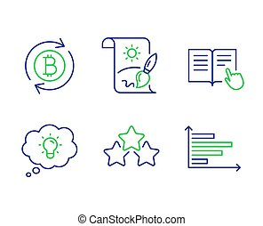 Creative painting, Energy and Read instruction icons set. ...