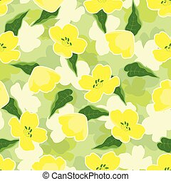 creative pattern with flowers of rape - seamless cute ...