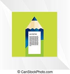 creative pencil concept