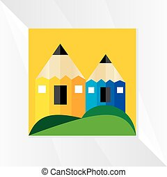 creative-pencil-with-house-concept