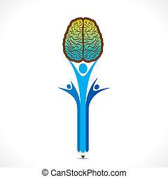 creative people hold the brain