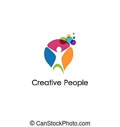 Creative people vector icon illustration design