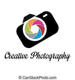 Creative photographer logo template