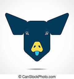 creative pig face design