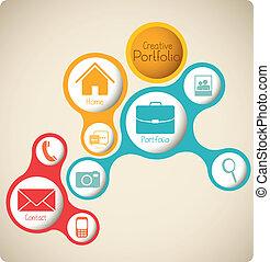 Creative portfolio - Illustration of creative portfolio....
