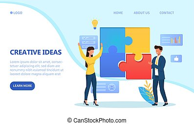 Creative Process and teamwork concept
