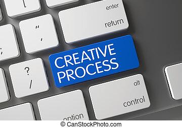 Creative Process Keypad. 3D Illustration.