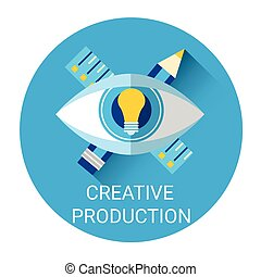Creative Production Icon Light Bulb Idea Concept