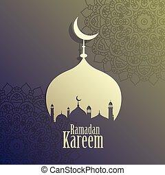 creative ramadan kareem islamic mosque background