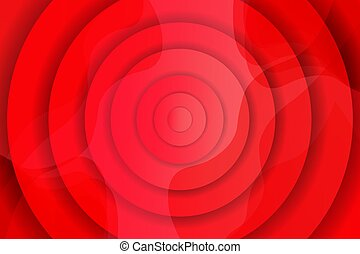Creative red wave background with circles