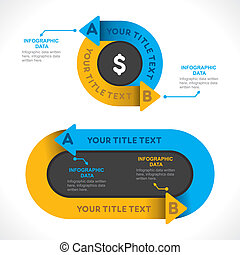 creative info-graphics for business for repeat the process concept vector