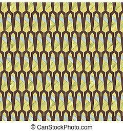 creative  retro leaf design pattern