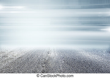 Creative road on dull sky background.