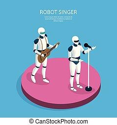 Creative Robots Isometric Background