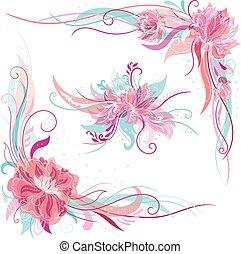 Creative Romantic Vector Floral Ornaments