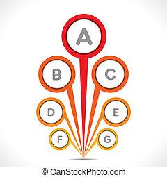 creative round design info-graphics