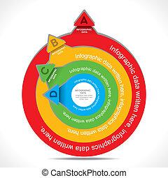 creative round info-graphics