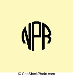Creative Rounded Initial Letters NPR Logo. It will be suitable for which company or brand name start those initial.