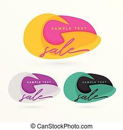 creative sale banner vector design