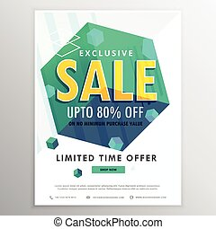creative sale poster banner flyer design with 3d cubes...