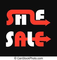 sale text banner design