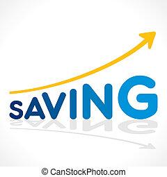creative saving word growth graph