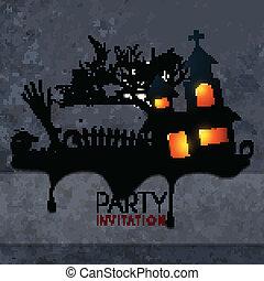 creative scary halloween design