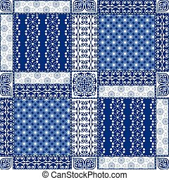 Creative seamless patchwork pattern - Vector abstract ...