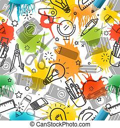 Creative seamless pattern. Vector art background