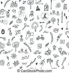 Creative seamless pattern with funny design