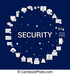 Creative Security icon Background