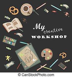 Creative set for artist