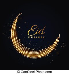 creative shiny eid mubarak moon design