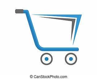 Creative shopping cart logo