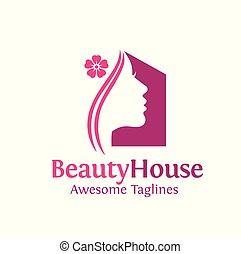 simple beauty house logo