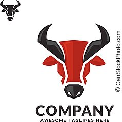 Bull head vector color logo