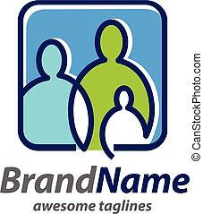 creative simple Family logo concept