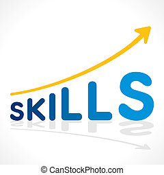 creative skills word growth graph