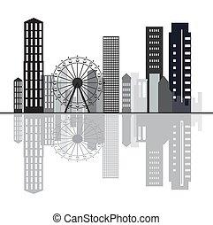 Creative skyline background