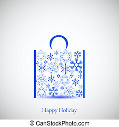 Creative snowflakes bag for your design. Vector illustration. Best choice